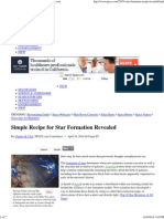 Simple Recipe for Star Formation Revealed _ Space
