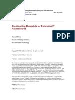 Constructing Blueprints for Enterprise It Architectures