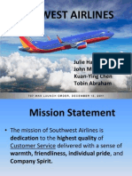 strategic management- southwest airlines