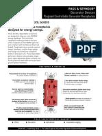 Plugload Controllable Decorator Receptacles Spec Sheet SF20145