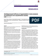 Antidepresant Efficacy of Agomelatine