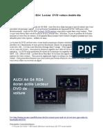 Audi A4 S4 RS4 Lecteur DVD Voiture Double Din