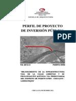 PIP Mejoramiento Infraestructura Vial
