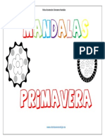 Coloreamos Mandalas de Primavera