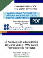 MARCO LÓGICO Y CONCEPTOS BÁSICOS PARA PROYECTOS DE COOPERACIÓN INTERNACIONAL