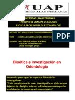 Bioetica e Investigacion en Odontologia