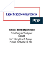 5 productos especificaciones