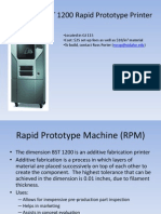 Rapid Prototype Machine