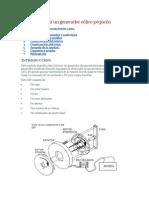 Como construir un generador eólico pequeño