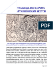 Saint Tyagaraja and the Gopulu Rama Pattabhishekam Sketch