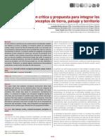 Tierra Paisaje y Territorio 2014