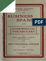 Business Spanish - A. D. Ainslie