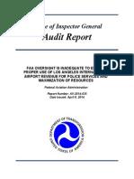 FAA Oversight of LAX Revenue Use Inadequate