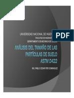 ANALISIS DEL TAMAÑO DE LAS PARTICULAS DE SUELO
