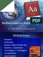 Definiciones en Inmunología