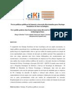 Artigo Novas políticas de fomento a inovação direcionadas para Startups brasileiras de base tecnológica.1