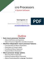 Unit-IV-Macro Processor - Sri Eshwar