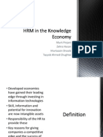 HRM in Knowledge Economy