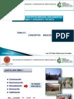 Modulo I-Conceptos Basicos, Docuemntos de Obra y Expediente Tecnico