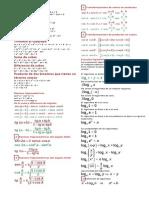 Formulas. Limites y Derivadas