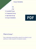 Scrap Calculation in Pp Module