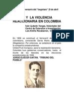 GAITÁN Y LA VIOLENCIA REACCIONARIA EN COLOMBIA