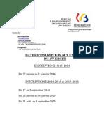 Jurys - enseignement secondaire - 2e degré - dates d inscription aux examens (2013 à 2016) (ressource 10488)