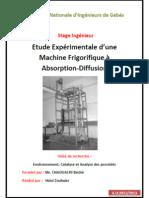 Etude Expérimentale d'une Machine Frigorifique à Absorption-Diffusion
