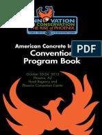 ACI F13 Convention Program Book