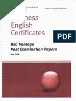 BEC Vantage 2008 Test (All)