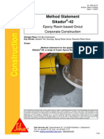 Method Statement for Grouting