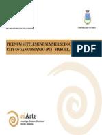 picenum settlement summer school depliant overview of the programme