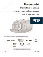 Camera Video Digitala Panasonic Hdc Hs100epk Fisa Tehnica