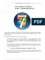 Cambiare Lingua a WINDOWS Seven PROFESSIONAL