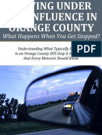 Driving Under the Influence in Orange County