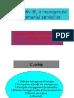 Activitatea Managerul Din Domeniul Serviciilor