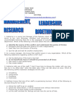 Leadership Management Bioethics Research