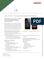 Tems Investigation 15.2 iPhone Datasheet