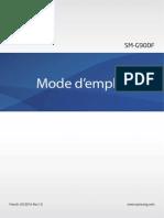 Samsung Galaxy S5 Manual SM G900F French