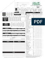 Call of Cthulhu Character Sheet