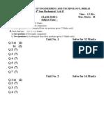 CT 2 Specimen Paper for 4th Sem