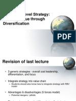 Week 12 Chap6 CorpoWeek 12 Chap6 Corporate-Level Strategyrate-Level Strategy