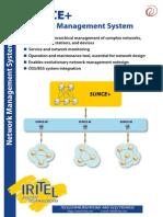 IRITEL - SUNCE+ NETWORK MANAGEMENT SYSTEM (NMS) -  OTN DWDM SDH SONET