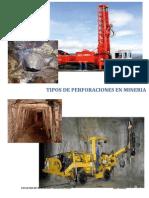 Tipos de Perfoeraciones en La Mineria