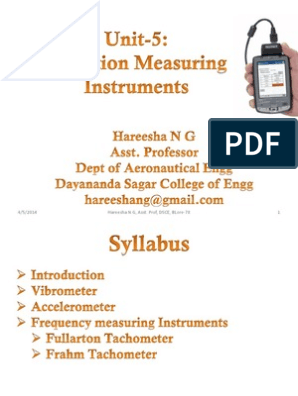 Vibration Measuring Instruments | Accelerometer | Frequency