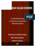 Dasar Dasar Valuasi Ekonomi
