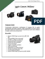 Noleggio CanonC100 Milano
