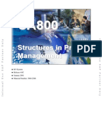 CA800 Structures in Project Management (46C)