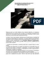 La Didáctica aplicada a la enseñanza del instrumento trabajo