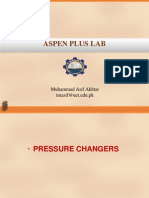 Pressure Changers and Sensitivity Analysis